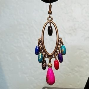 Jewelry - 3 For $15 Colorful Chandalier Earrings  NWOT